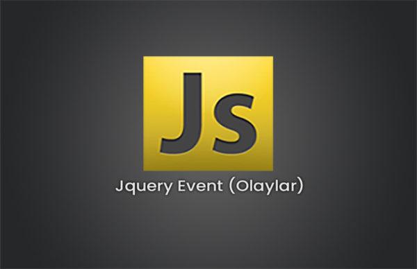 Jquery Event (Olaylar)