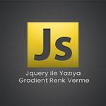 Jquery ile Yazıya Gradient Renk Verme