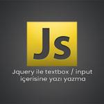 Jquery ile textbox-input içerisine yazı ekleme - Serdar Karaca
